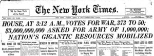Veterans Day WWI declared