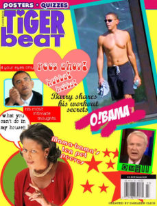 Tiger Beat parody cult of Barry Obama