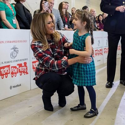 Melania Trump Spreads Christmas Cheer With Military Families