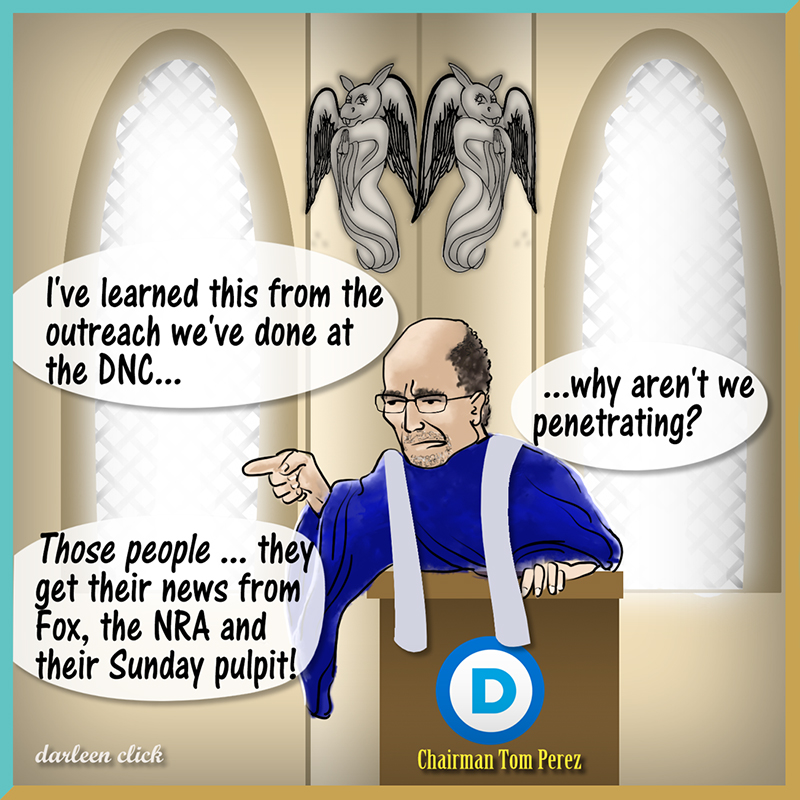 Bibles! Guns!! FOX!!! DNC Chair explains Republicans