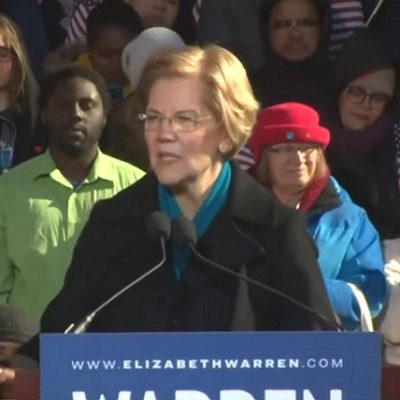 Elizabeth Warren Tosses Headdress Into The Presidential Ring