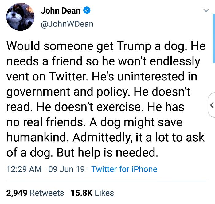 John Dean Tweet