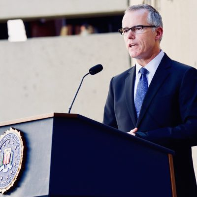 Andrew McCabe Claims Firing Was Unconstitutional And 'Politically Motivated'