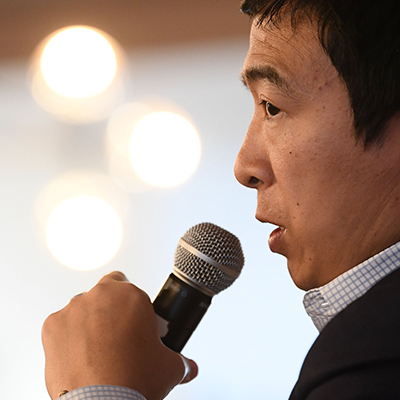 Andrew Yang Sheds Tears in Iowa