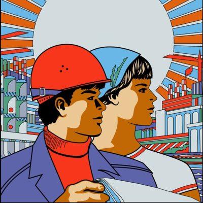 AOC Goes Full Soviet Art For Green New Deal