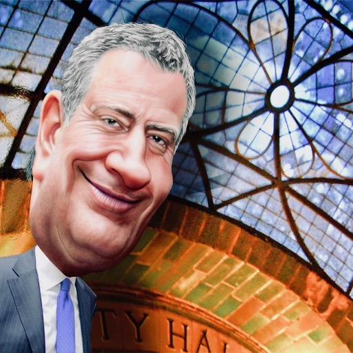 Bill De Blasio Tromps On First Amendment To Protect Illegal Aliens From Bad Words