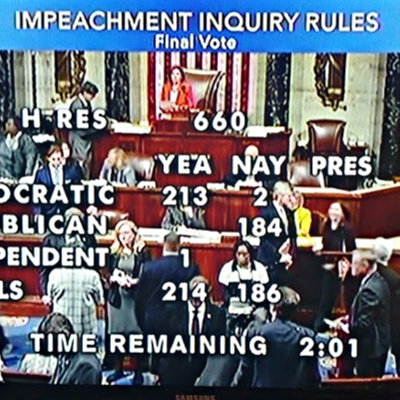 House Votes For Impeachment Inquiry Rules