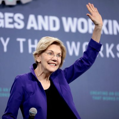 Pink Planned Parenthood Scarves for Warren on Inauguration Day