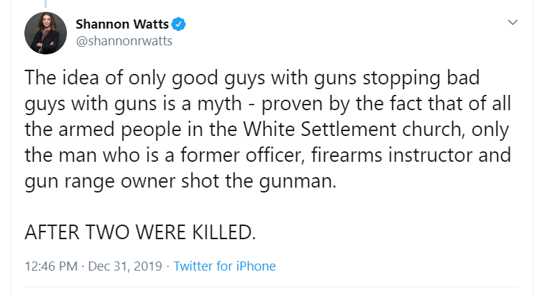 Watts on White Settlement shooting (Chief Justice story)