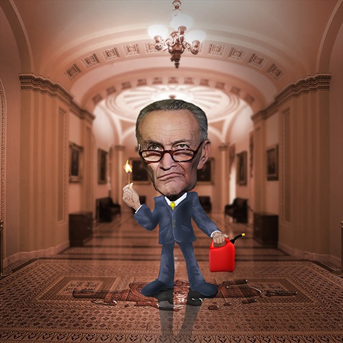 Schumer Tantrums On Senate Floor Over Rules