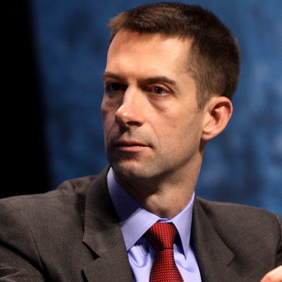 Cotton Mocked by Media for Coronavirus Idea