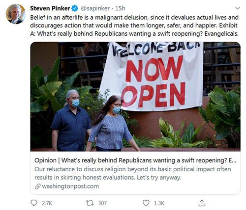 Steven Pinker Tweet 5-21-2020