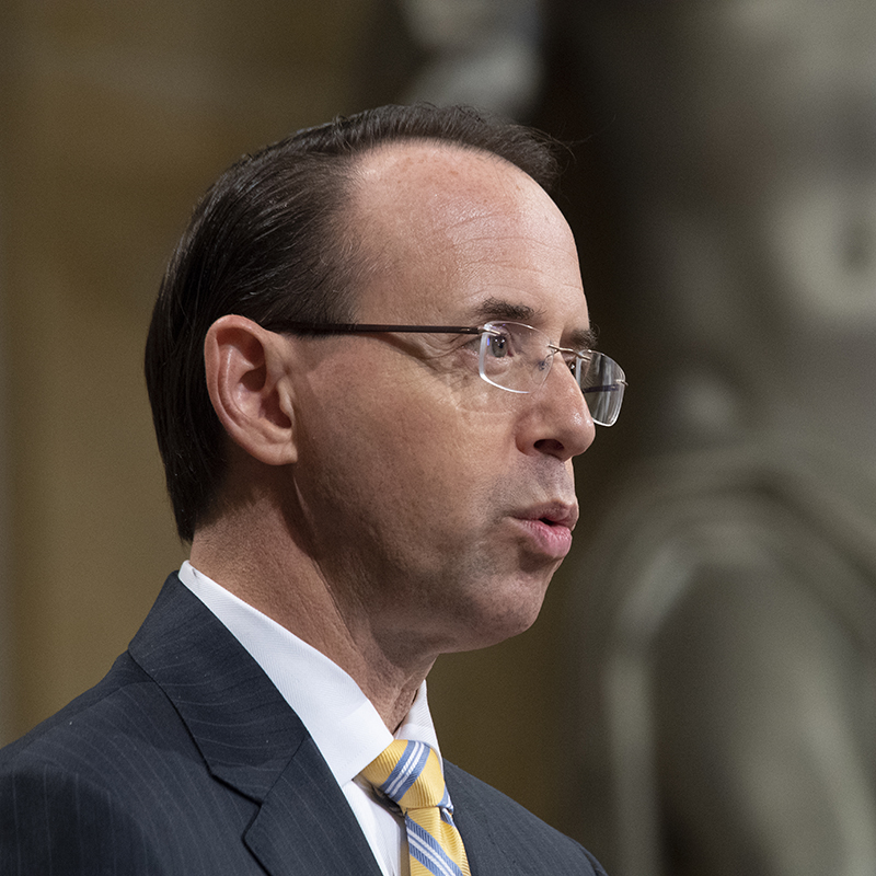 Rod Rosenstein Takes Senate Judiciary Committee Hot Seat Wednesday