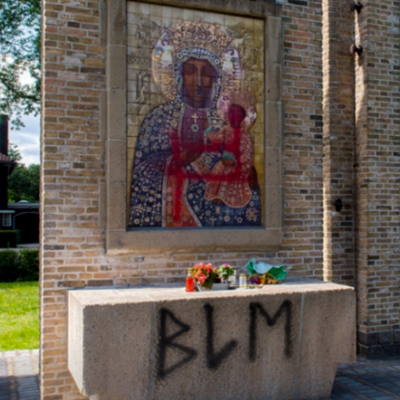 Black Madonna Defaced in The Netherlands