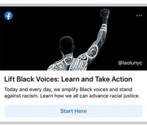 raised fist facebook