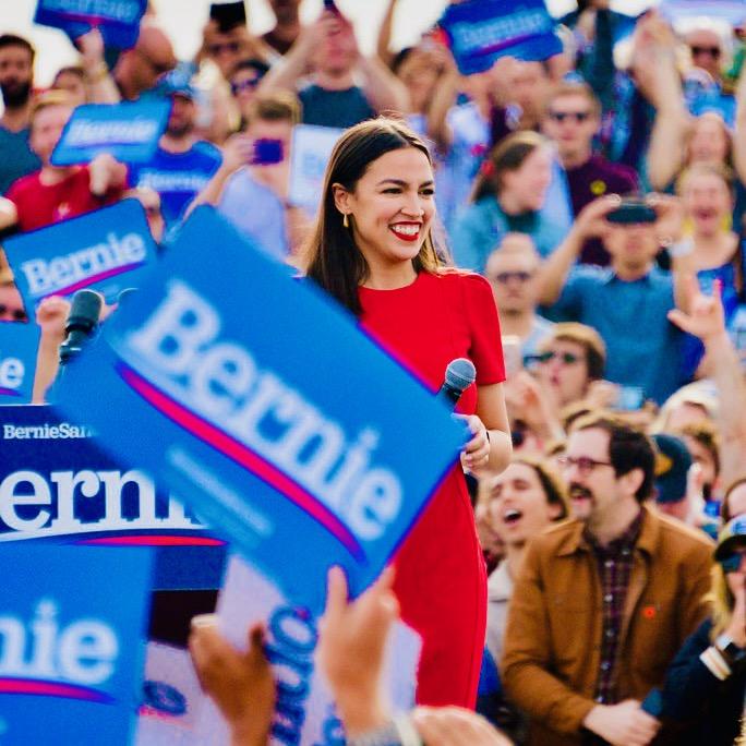 Alexandria Ocasio-Cortez Snubs Biden, Endorses Bernie