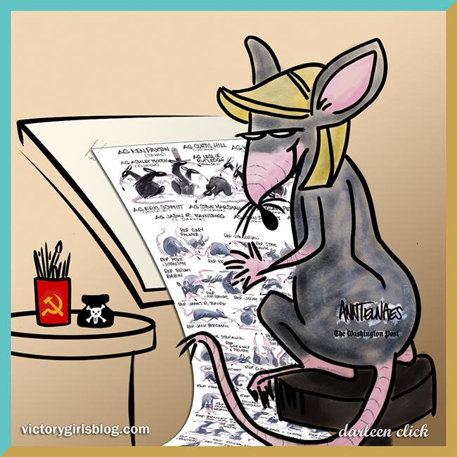 WaPo's Ann Telnaes Draws GOP as Rats Cartoon