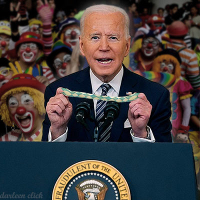 biden fake clown media