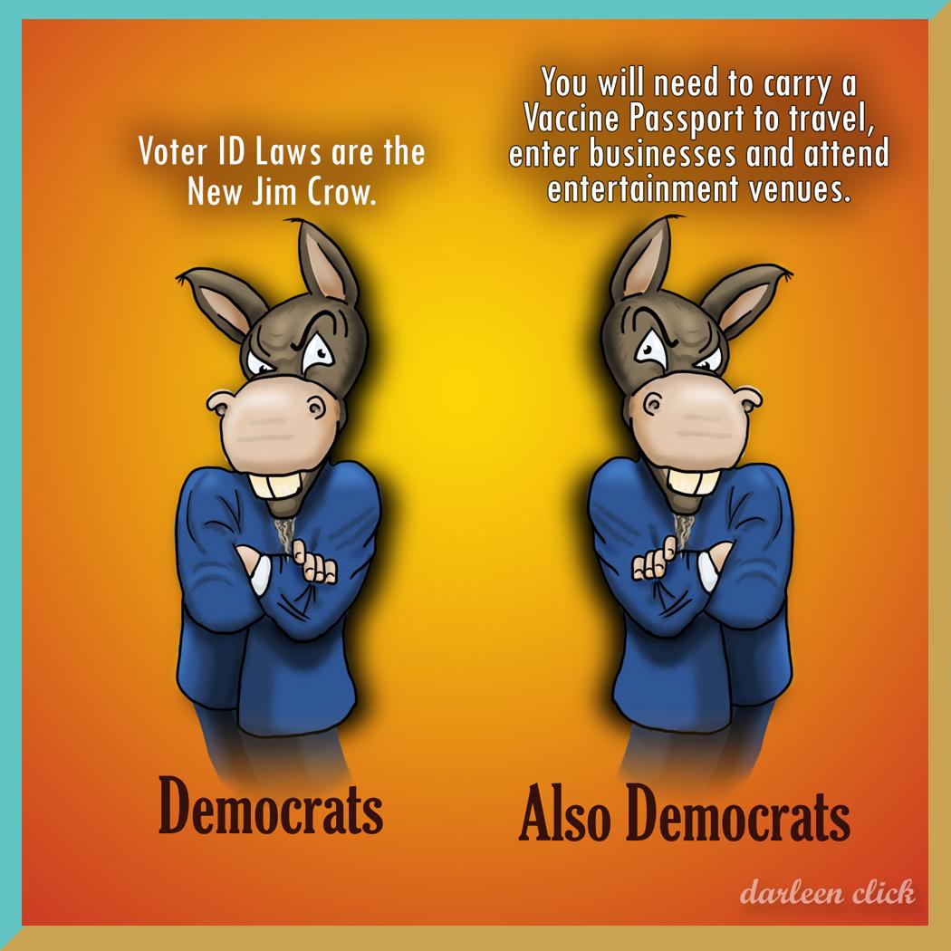 Vaccine Passports, Voter ID & Democrat Hypocrisy