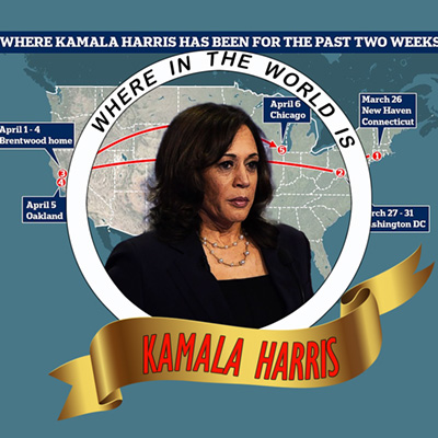 Where in the World is Carmen … er … Kamala Harris?