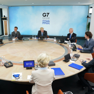 Dementia Joe Shuffles And Mumbles At G7